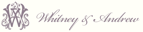 Whitney and Andrew Weddiong Logo and Logotype